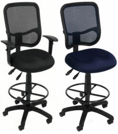 ofm deluxe screen mesh drafting chair - 130-dk
